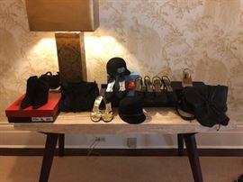Miscellaneous women's shoes, hats, clothing and designer dresses, 50% off; Men's suits, tuxedos, slacks, pants, casual shirts, belts 50% off