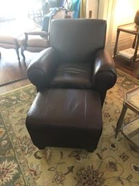 Leather chair and ottoman, was $400, now $200