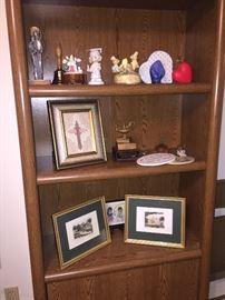 bookcases, art, etc
