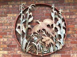 Large Hand Made Metal Art - Nebraska Prairie Scene