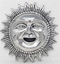 "Metal Sun Decor  12"" diameter"