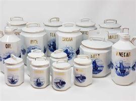 1918 German Canister Set 30 Pcs.  Wedding Gift after WWI