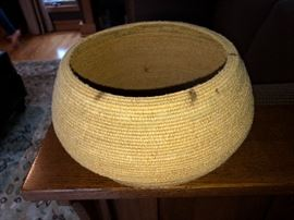 Authentic Native American hand woven basket, Navajo