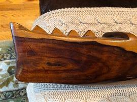 Vintage hand carved canoe