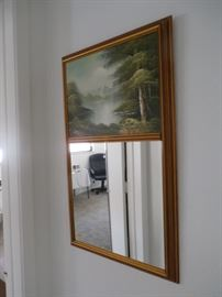 MIRROR WITH LAKE SCENE