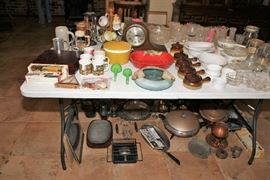 Pottery, Glass, Pots and Pans, Copper Items