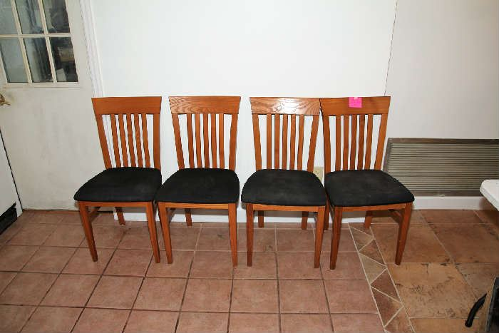 Set of 4 Teak Kitchen Chairs