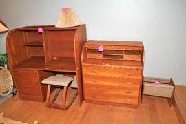 Two Roll Top Desks