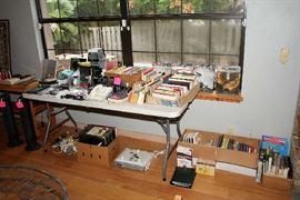 Books, DVDs, CDs, Phones, Small Electronics