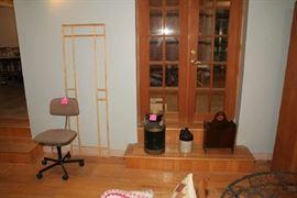 Office Chair, Milk Can, Jug, Magazine Rack
