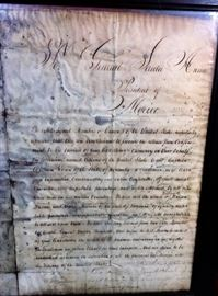 Letter to Santa Anna front