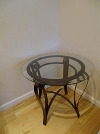 Glass and Metal table in mint condition