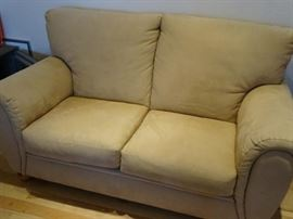 Tan Suede Couch Quebec 69 in phenomenal condition and very comfortable