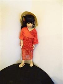 Vintage Goetz high end porcelain doll A Chinese woman