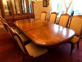 Large Wood Table with Chairs