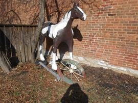 6' Fiberglass horse