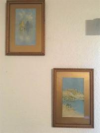 KET005 Two A. Burgess Framed Prints