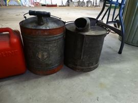Gas and Milk containers