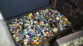 Tons of handmade marbles huge chest marbles sold in lots