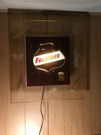 Falstaff lighted sign.  1960.