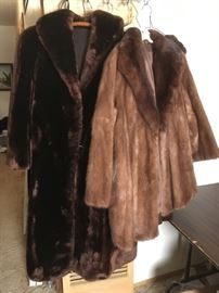 Genuine Minks, Full length Sheared, an Jacket.  Jacket could be made a fantastic chic' vest.