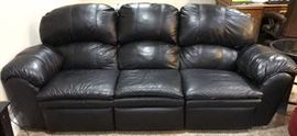 Best Black Leather Manual Recliner Sofa