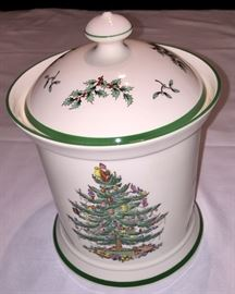 Spode - England cookie Jar For the special holiday treats… Don't forget to leave one out for Santa!