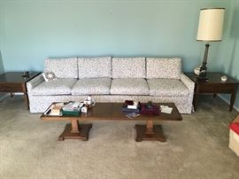 couch, coffee table, end tables