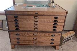Vintage Map desk.  3 pieces.  $1200.00