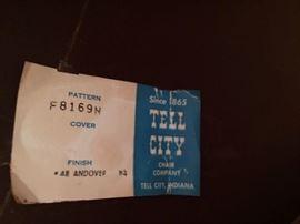 Tell City label