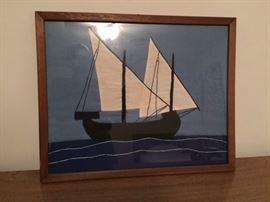 cloth ship in frame