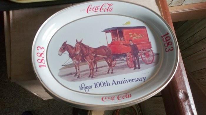 1983 Commemorative Coca Cola / Kroger Trays