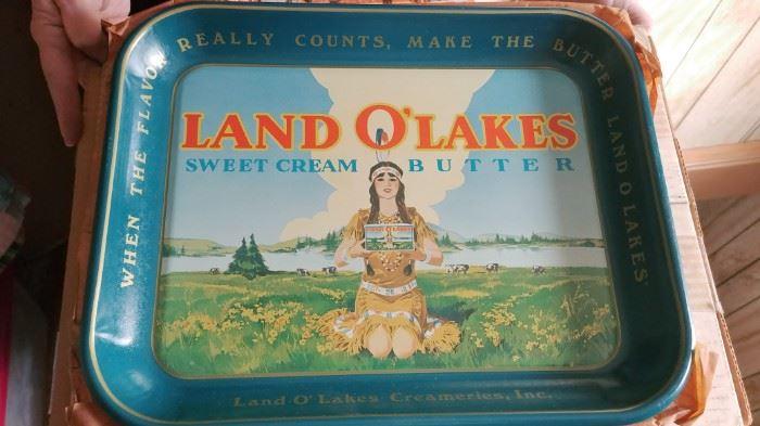 Vintage Land O'Lakes Trays