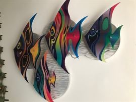 Wall fish. Large with background lighting