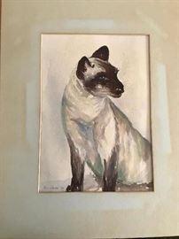 Siamese Cat by Ruth Warner