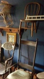 Wide variety of vintage chairs