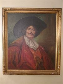 "Fantastic vintage oil painting ""The Cavalear"" in a great frame"