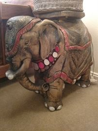 Magnificent plaster elephant lamp/plant stand