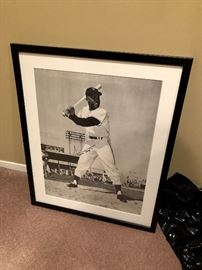 Signed Willie Mays framed picture