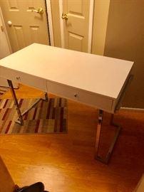 Modern sleek desk with Chrome legs