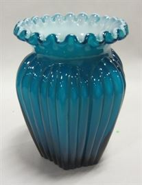 Fenton glass vase