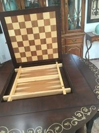 Reversible game table center of table
