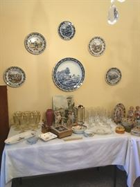 Delft Four Seasons plates