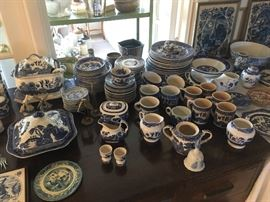 Extensive Blue Willow collection