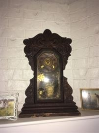 19th Century pendulum clock-- WORKS!
