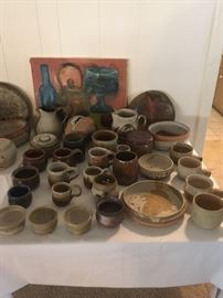 Extensive pottery collection