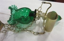 Fenton hanging glass lamp