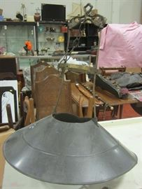 turn of the century ceiling hanger for oil lamp.  Difficult to find