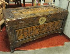 late 20th century Chinese carved chest