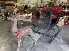 Rudolph helping with the Sleigh
